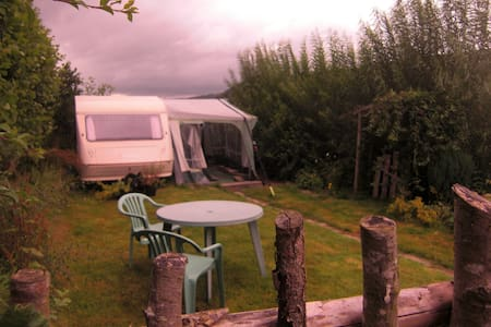 Caravan on smallholding. - Kington