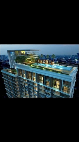 Roof top swimming pool.BTS.Wifi - Bangkok - Apartment