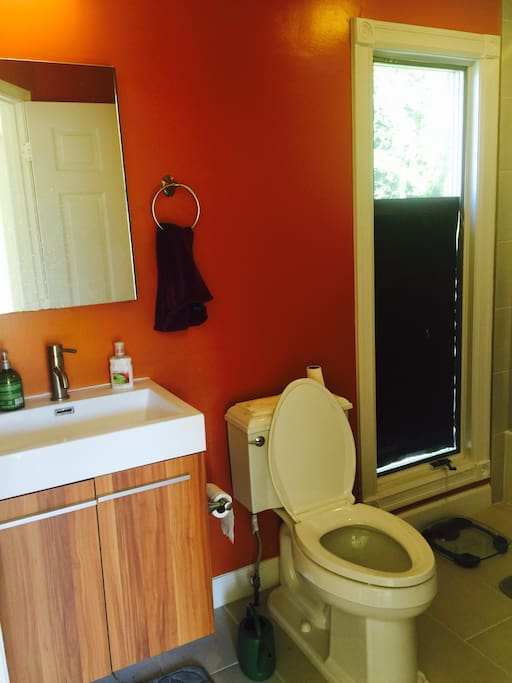Nice clean recently renovated bathroom!