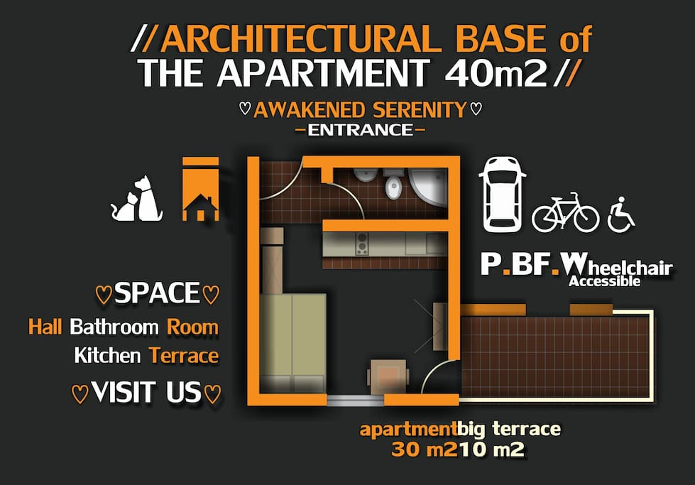 Architectural base of the apartment
