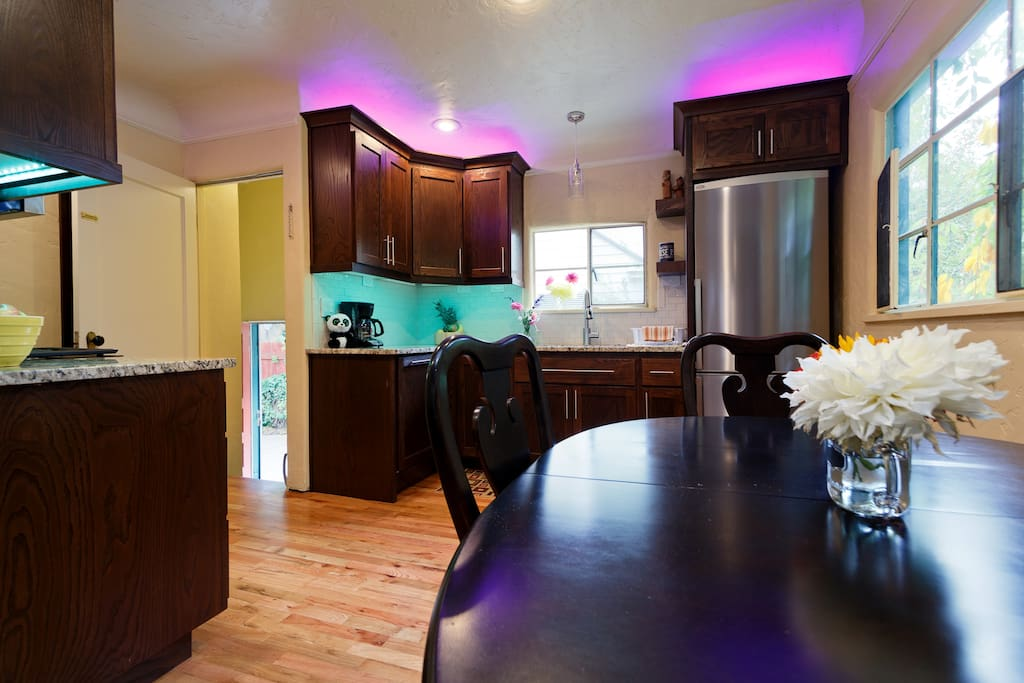 Brand new full luxurious kitchen with granite countertops, new cabinets all new appliances, stables and cookware to prepare any meal.