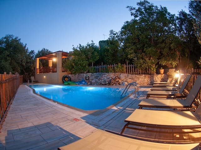 The swimming pool at night...