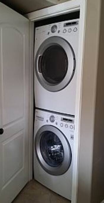 Full size interior washer and dryer. High Efficiency. brand new.