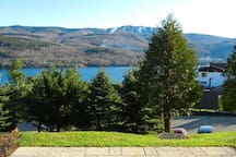 View from private terrace. Vue de la terrasse privé.