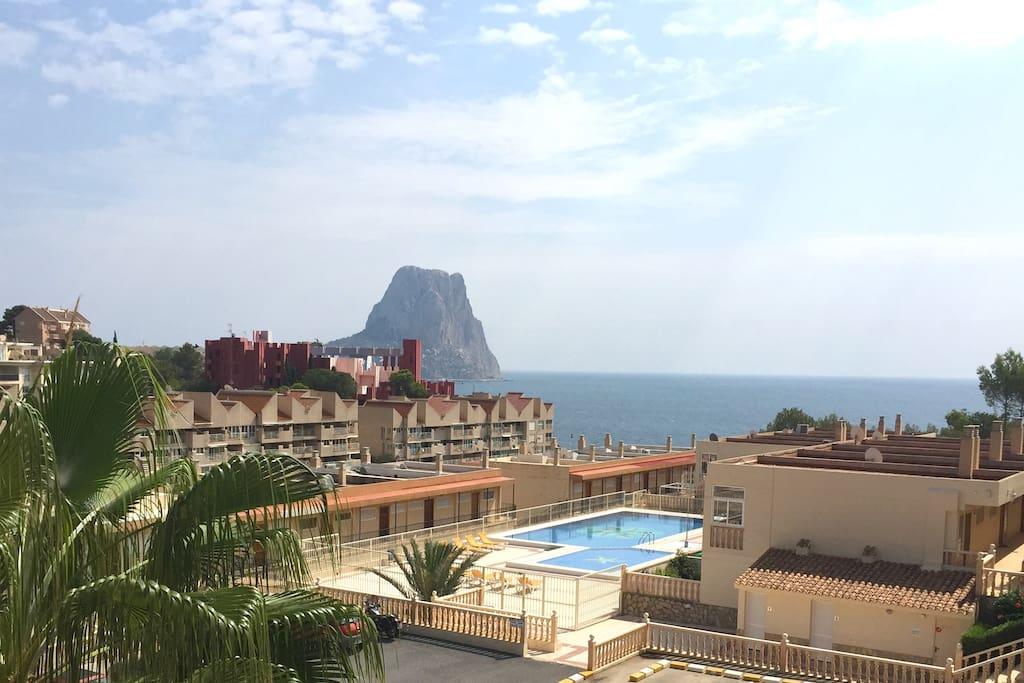 vistas desde la vivienda, piscina comunitaria