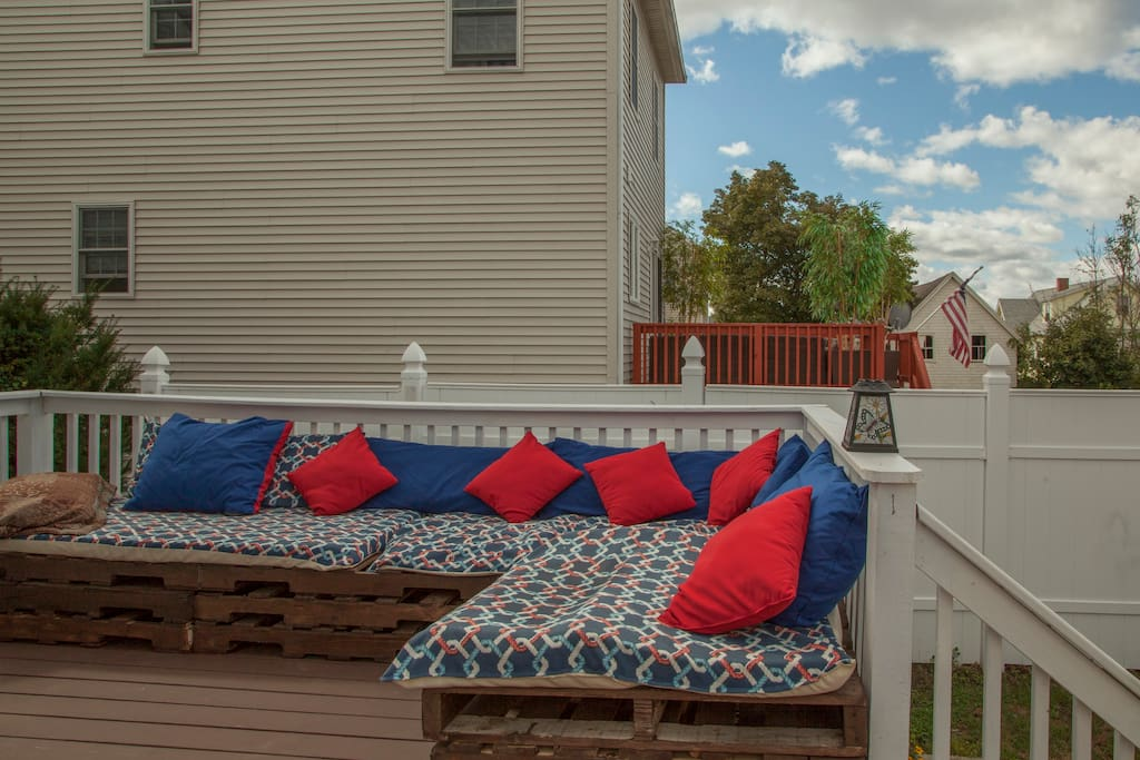Kick back in our homemade outdoor couches