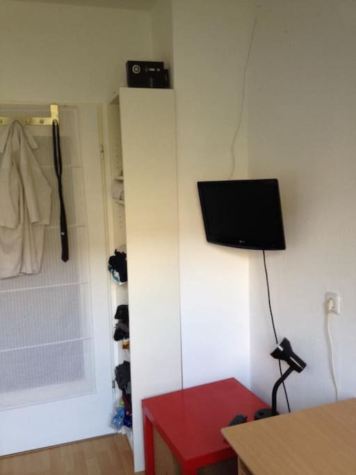 this - minus - the hanging shirts = door side of your room :D