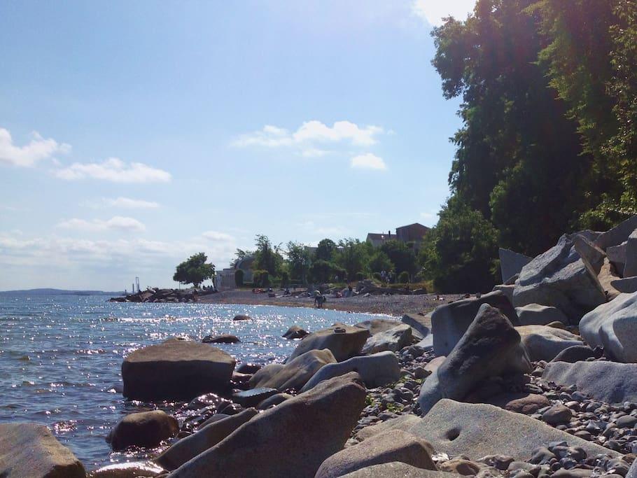 Kleiner Strand in Sassnitz