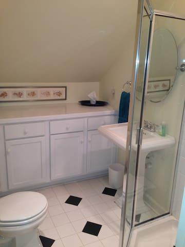 New bathroom with heated floors!