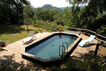 Honeymoon cottage with a pool - Lubriano - Casa
