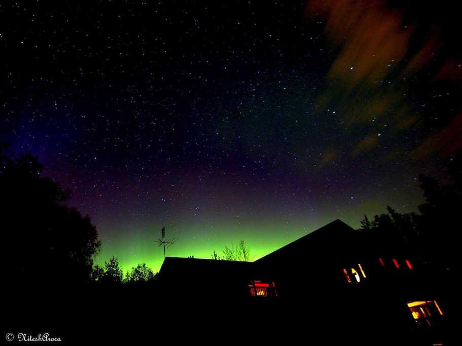 Our sweet guest Monika and her amazing husband took this photo of Moose Manor this Sept. 2015