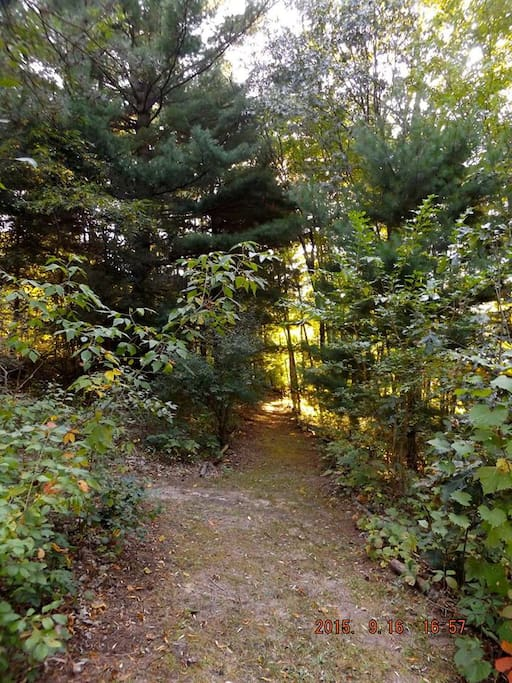 We have a beautiful, private walking path on the property.