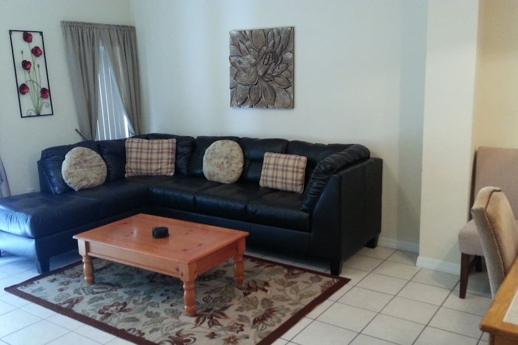 Living Area, NEW Sofa  (can be transformed to Sleeper Sofa FULL)