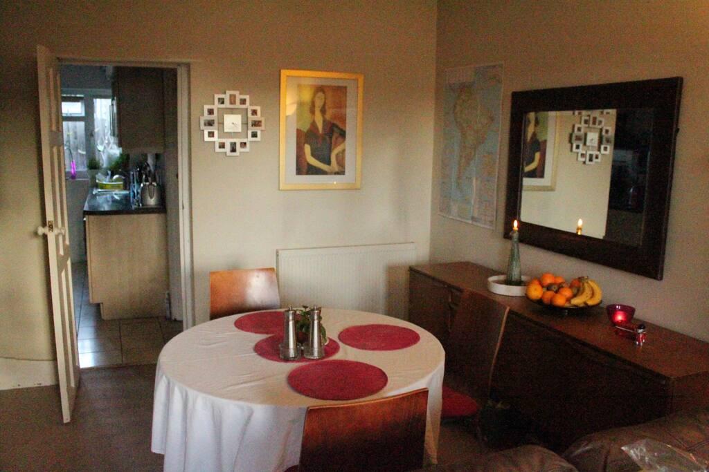 Opeb living dining area!