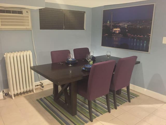 Large Dining Table with Seating for Four
