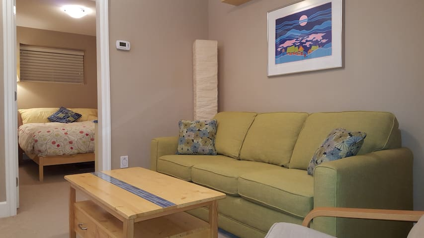 Cheerful private basement