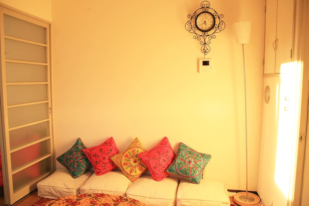 Colorfull pillows to make you comfy and relax.