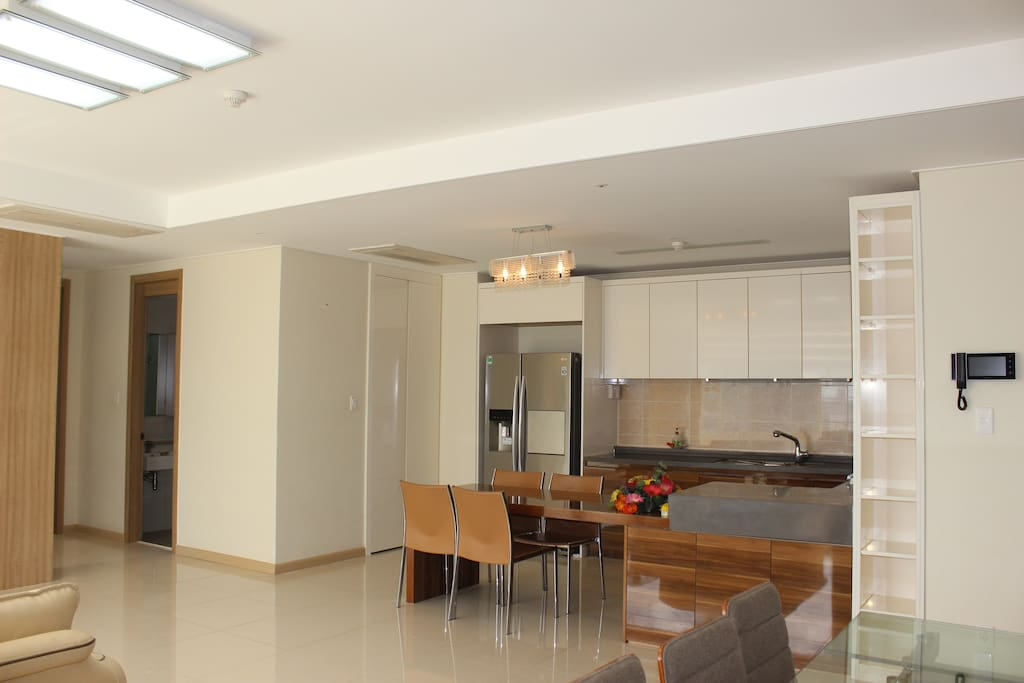 Kitchen with fully furnished