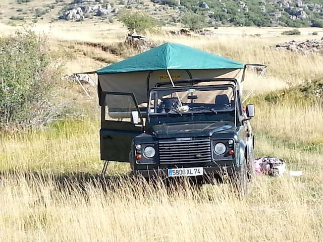 Camping on Land