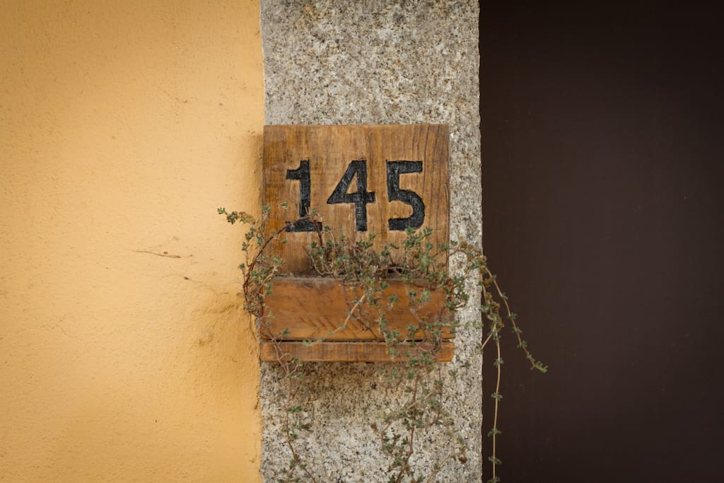 The number on the front door of the property. If you see this number, you've arrived! Welcome!