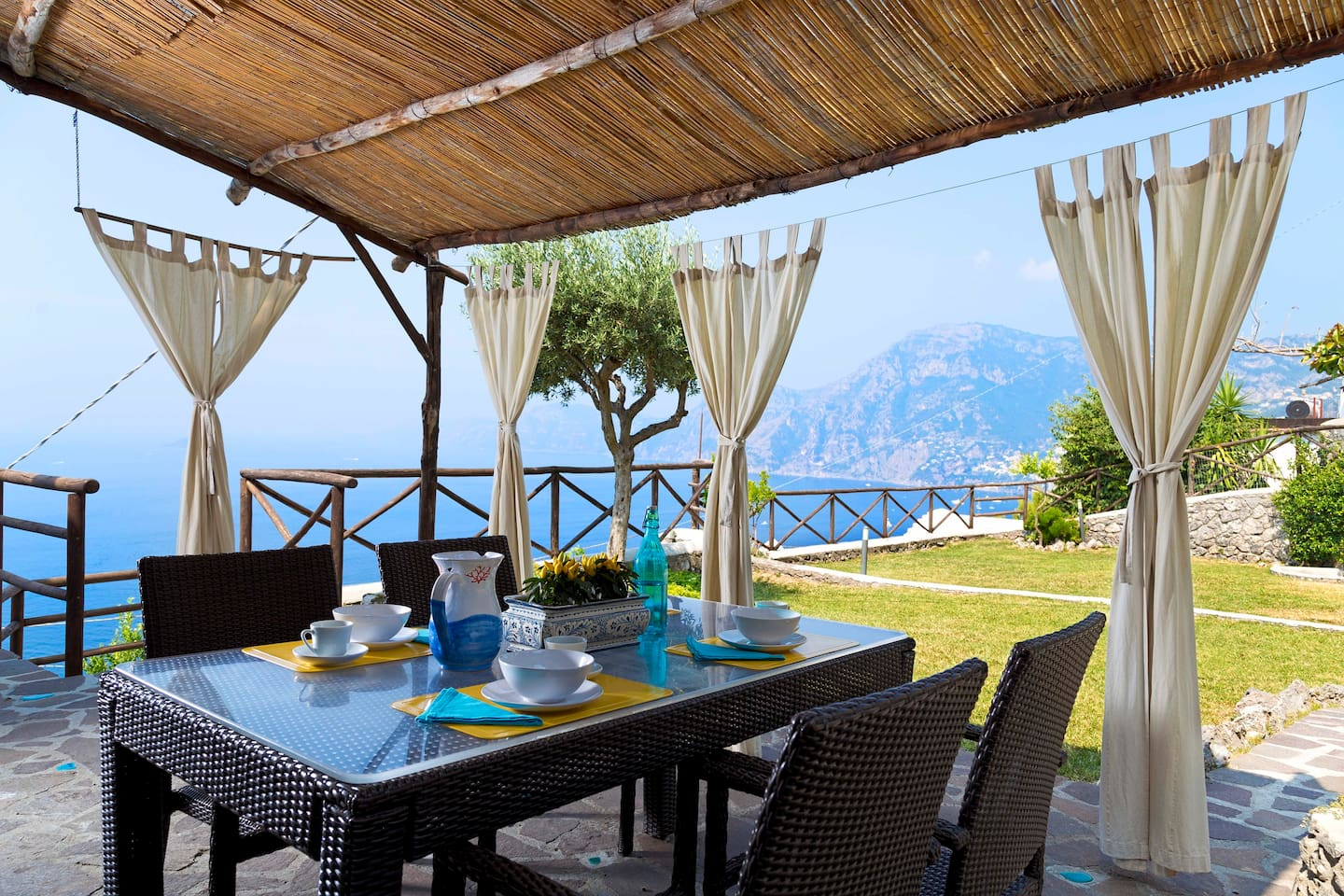 Have a breakfast looking at Capri and Positano from the patio
