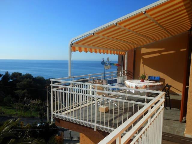 Ca' Stella vista mare con giardino - Cipressa - Apartamento