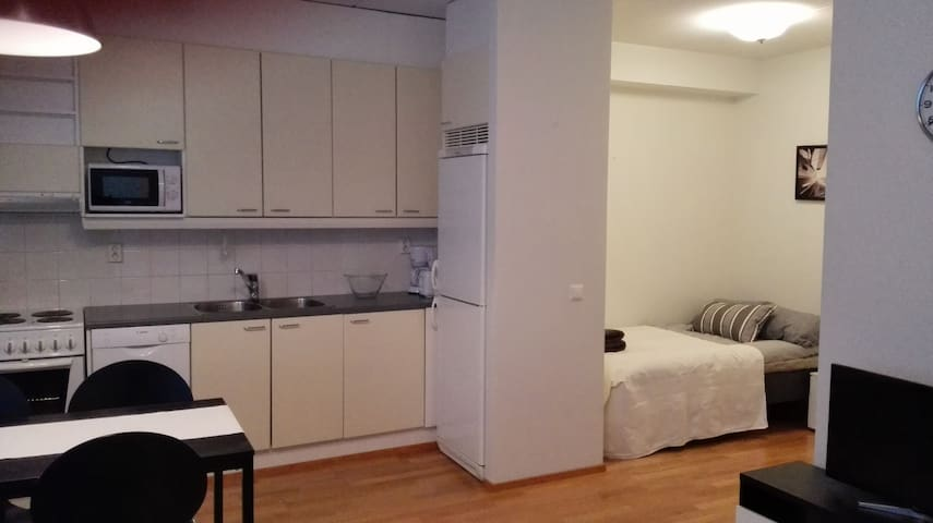 Superb studio w sauna and balcony