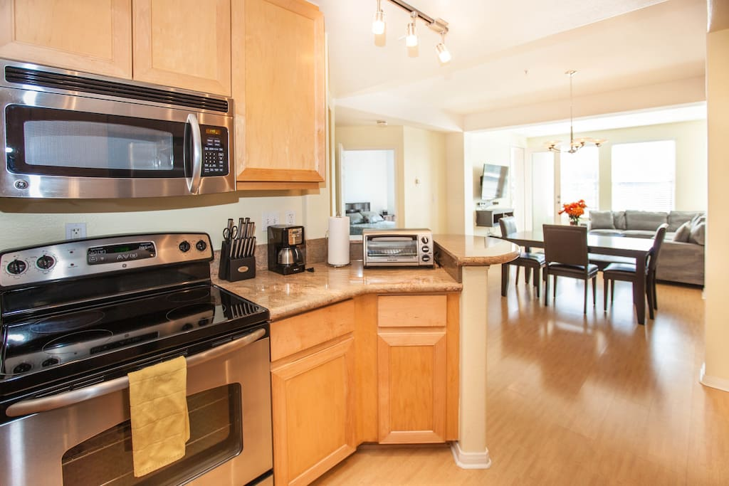 Kitchen with All New Stainless steel Appliances, and New Granite Counters