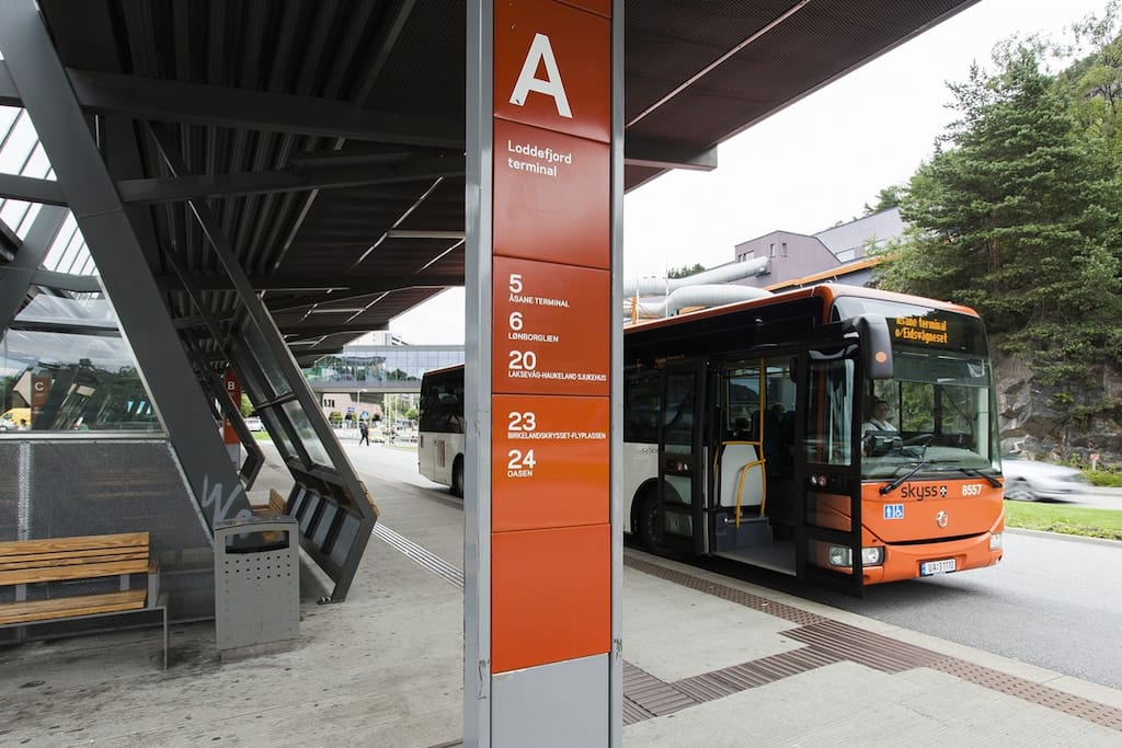 The closest Terminal to the apartment with frequent buses to/from the city center