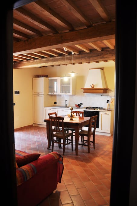 Vista particolare del Soggiorno-Cucina
