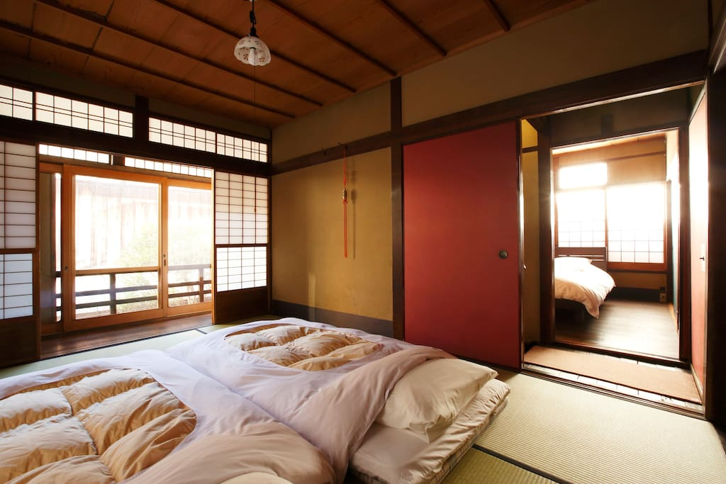 There is a stair between western bed room and Japanese-style bed room