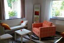 Oase am Stadtrand - schöne Wohnung mit Garten