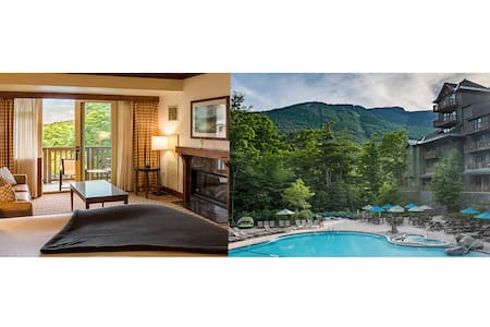 #347 Inside The Lodge At Spruce Peak | STUDIO | A favorite room! Beautiful pool and mountain views 3rd floor
