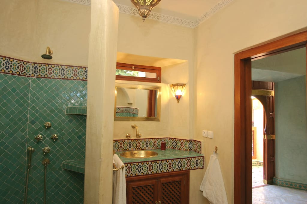 Private bathroom with traditional zeliges tiles