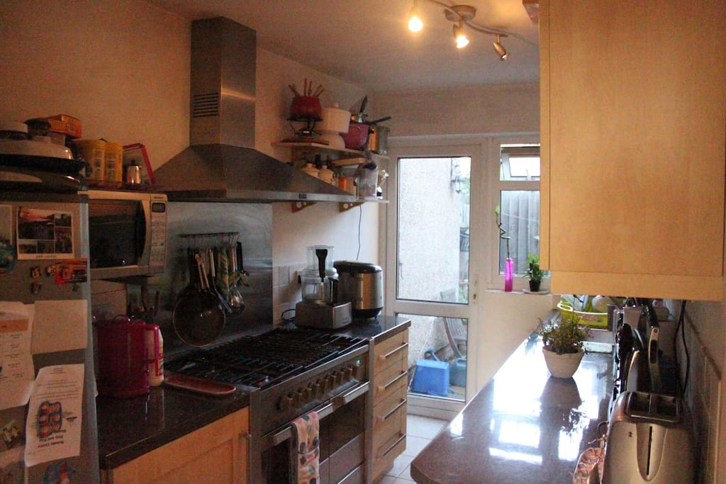 Kitchen with all appliances(Toaster, kettle, food processor, breadmaker)