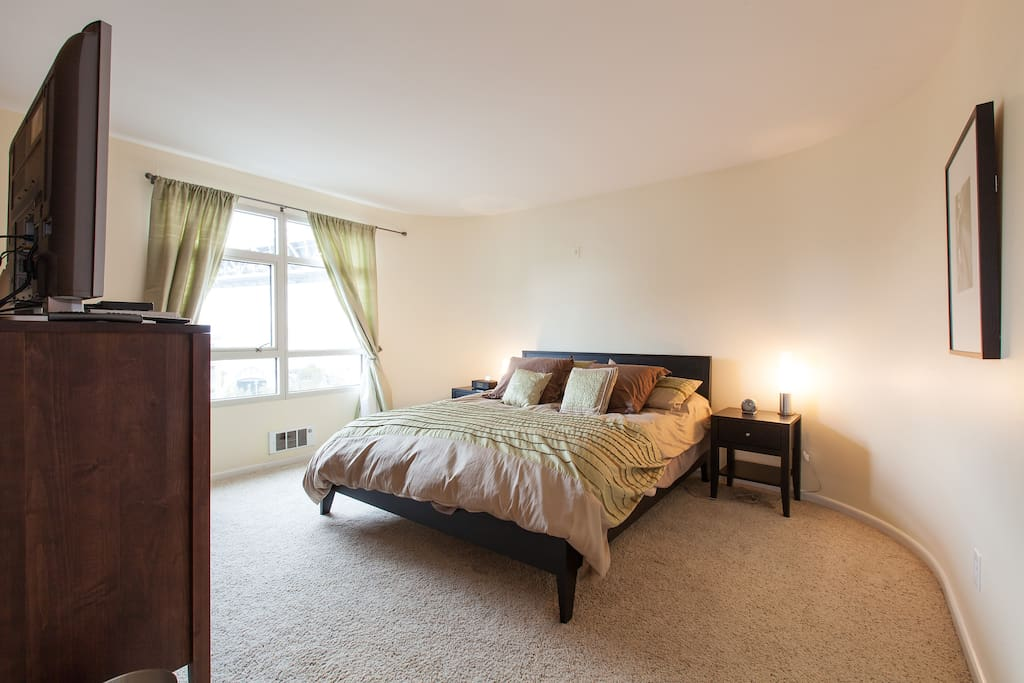 Master Bedroom with walk-in closet and master bathroom.