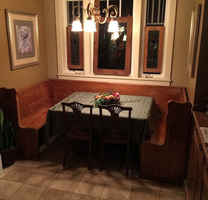 Our cozy dining room nook