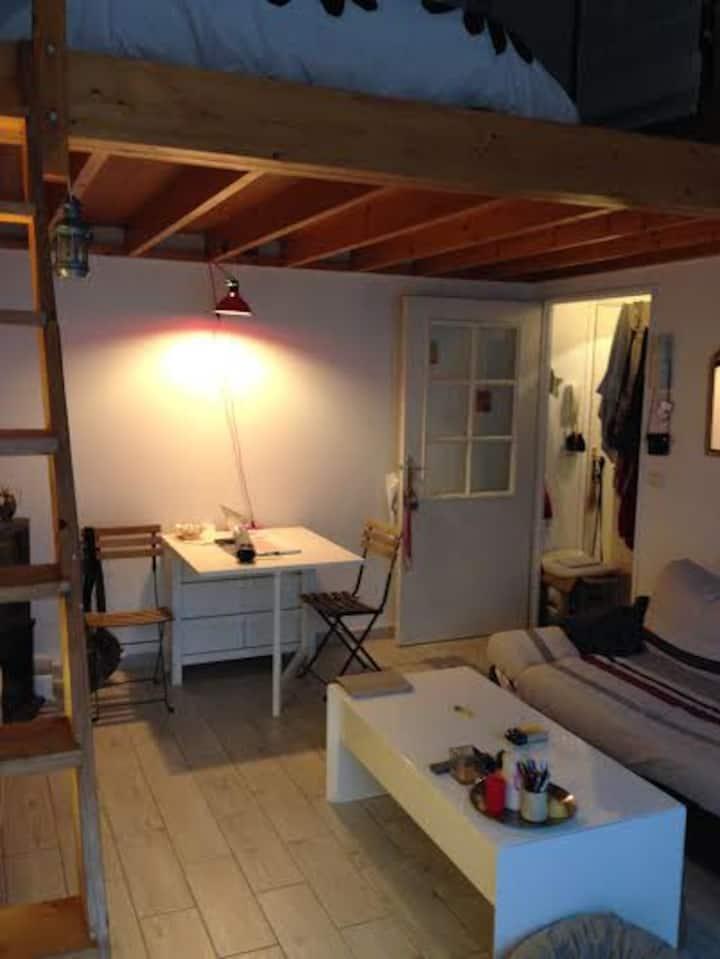 grand studio clair de 38 m2 pour 2 ou 4 personnes