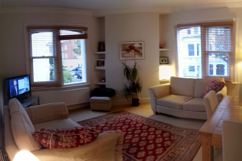 Warm, welcoming living room. Fully accessible.