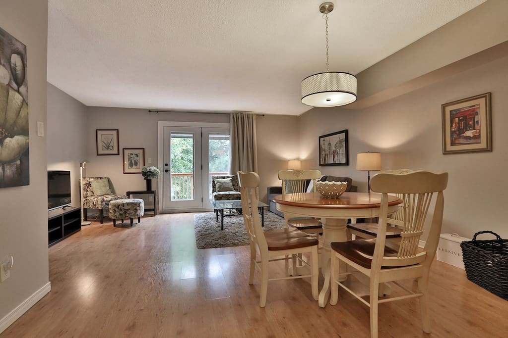 Spacious living dining area
