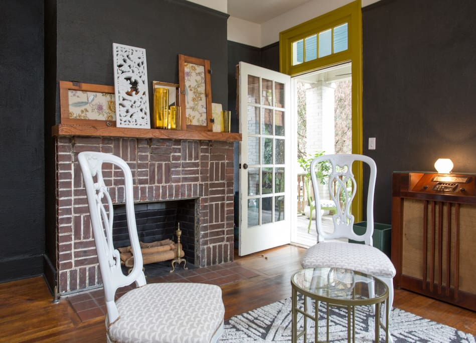 The door to your own covered front porch, just beyond the parlor