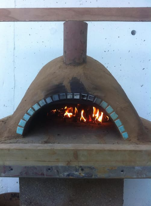 That's our Pizza oven that has a tendency to catch on fire on Fridays or Saturdays!