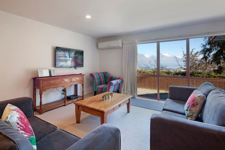 Central Queenstown. Private. Off-street parking.