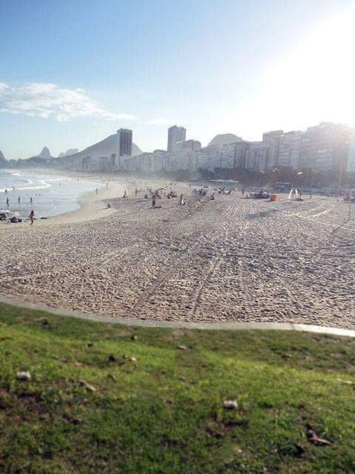 Playa de Leme en Copacabana