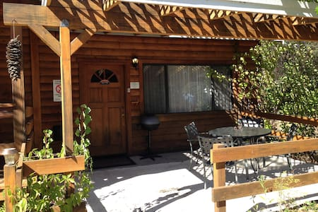 Studio with 2 queen beds, private bath & BBQ/WiFi - Ahwahnee - Blockhütte