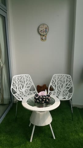 Cosy balcony garden for you to enjoy during your stay