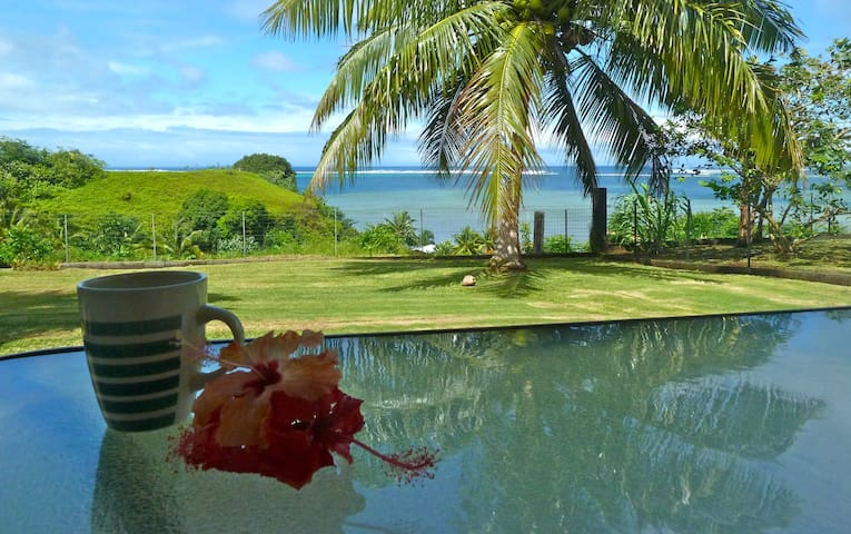 Tahiti Iti - With a view on the lagoon - Toahotu  - Rumah