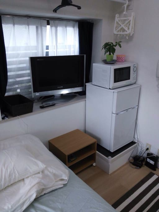 TV, Microwave, Fridge