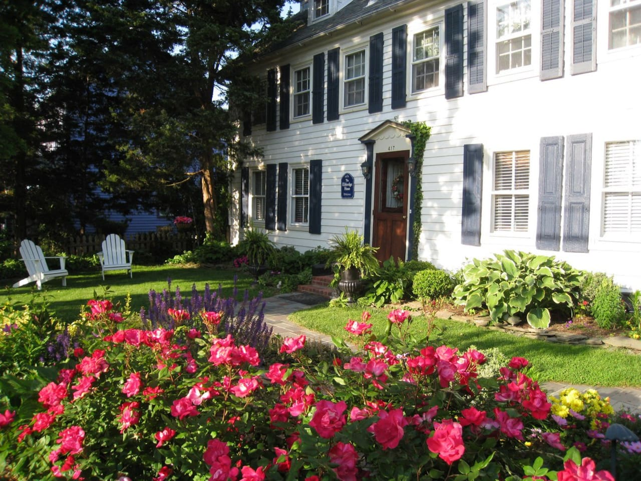 Cape May's Historic Eldredge House Inn and Gardens a 10 minute walk to the beach in Cape May