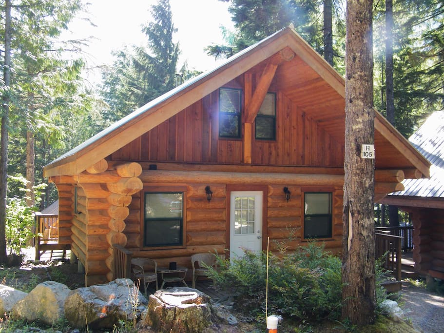 Beautiful Log Cabin In The Woods Cabins For Rent In Hope